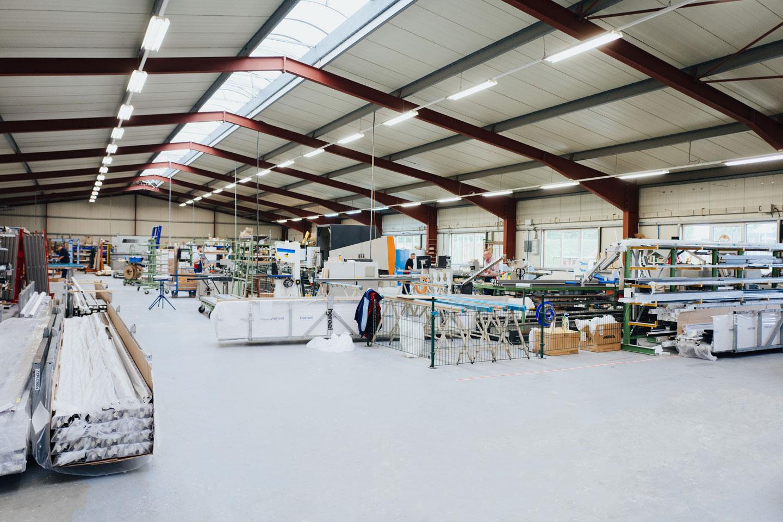 BEKRU Werke Abteilung Aluminium – Produktionshalle