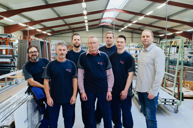 BEKRU Werke Abteilung Aluminium – Team