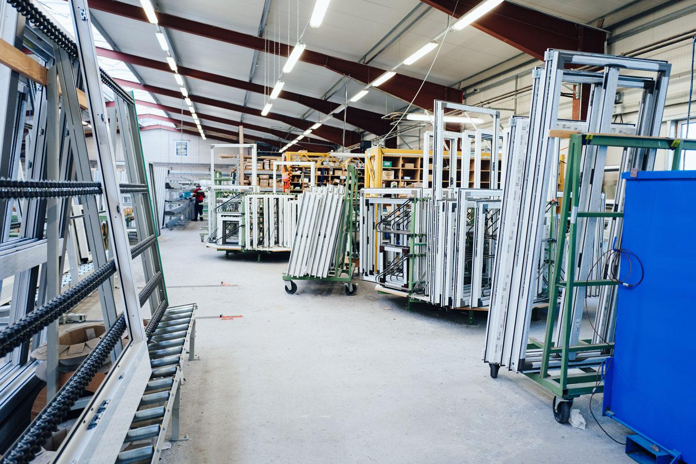 BEKRU Werke Abteilung Kunststoff – Produktionshalle