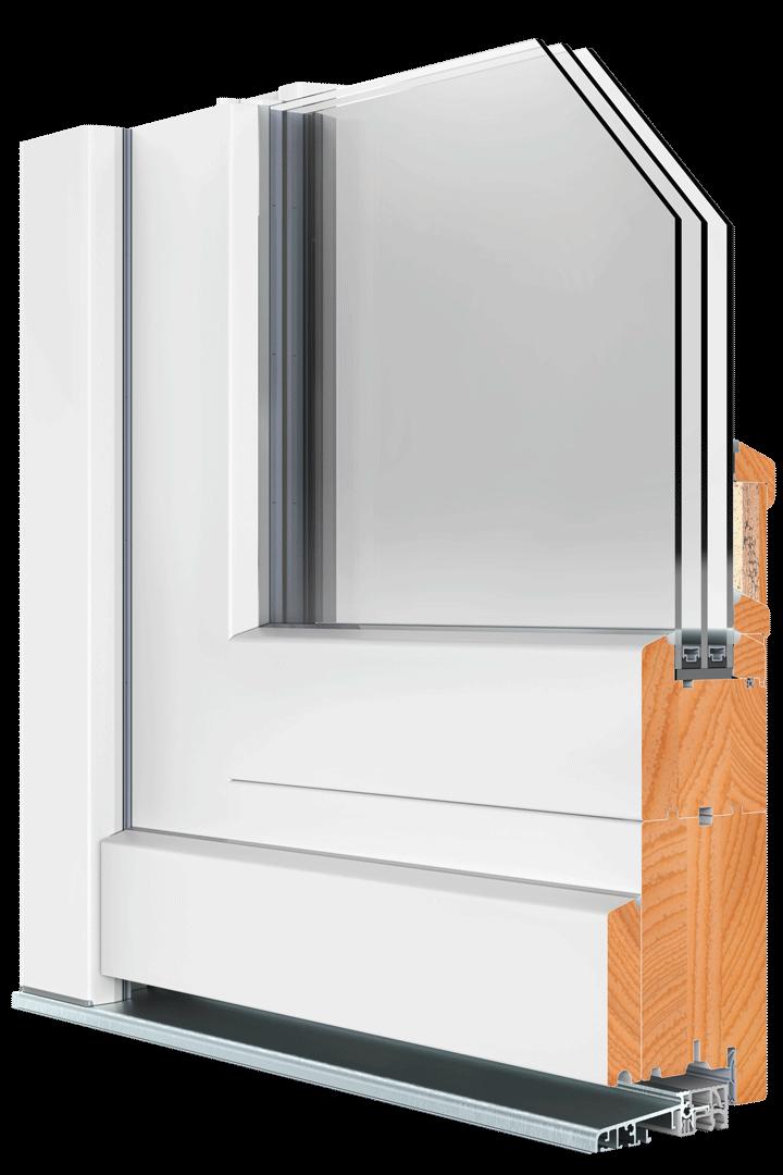 BEKRU Werke Holzfenster IV 78 Rahmentür Standard