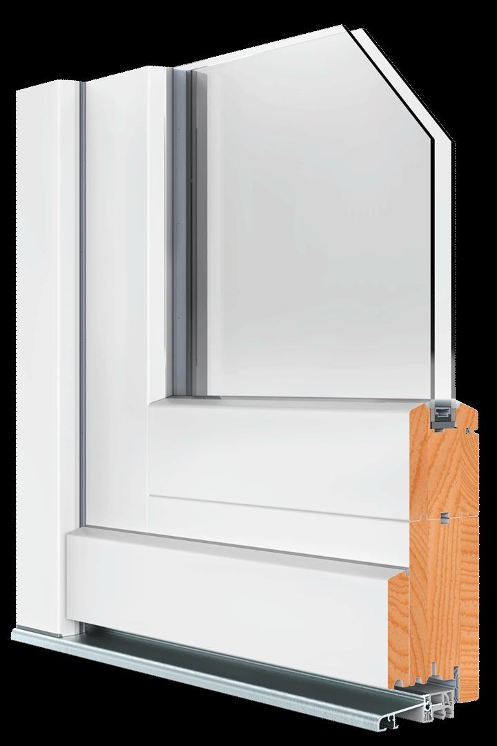 BEKRU Werke Holzfenster IV 68 Rahmentür Standard