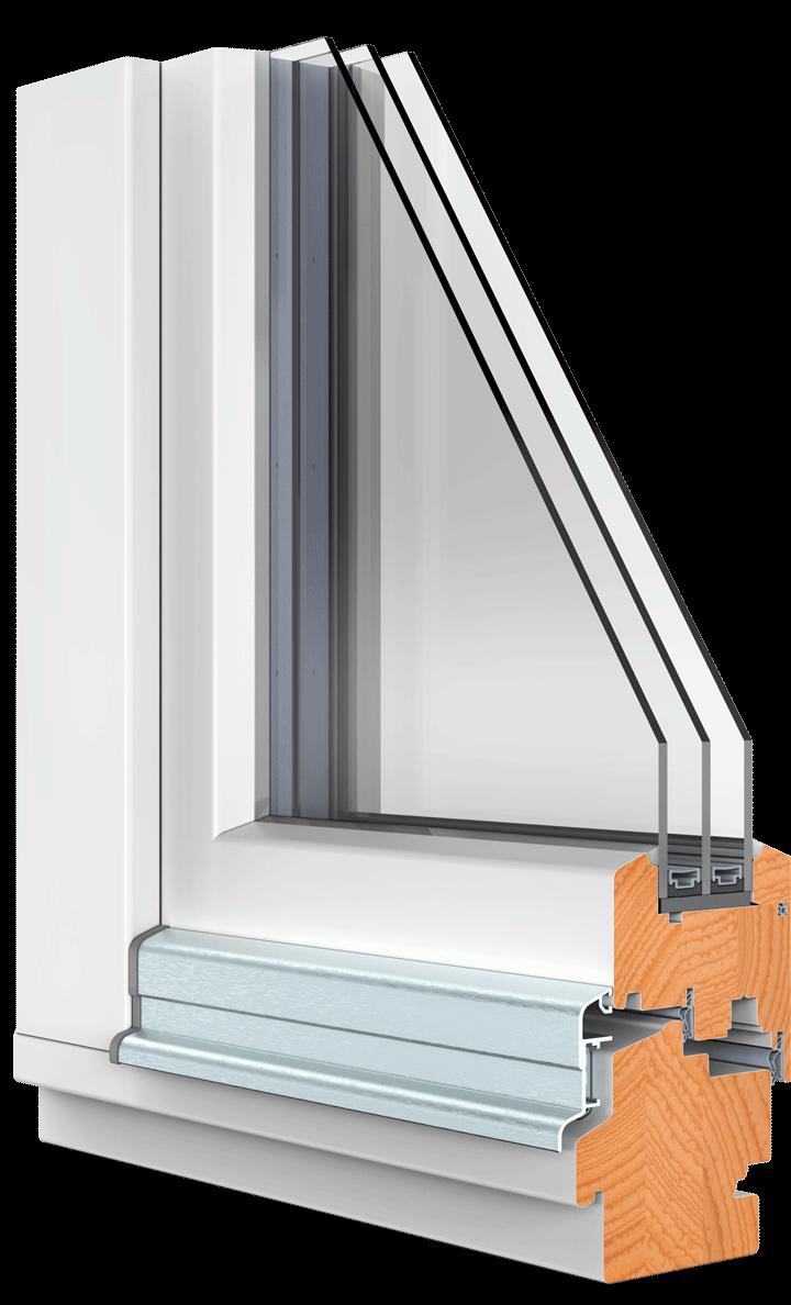 BEKRU Werke Holzfenster IV 90 Standard